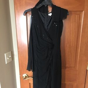 Cache black evening dress.  Comes with a scarf
